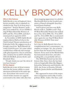 Возбуждающая Келли Брук для журнала Oh! Yeah! фото #2