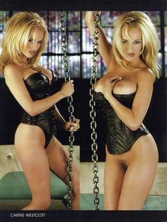 Красотка Кэрри Уэсткотт оголила грудь и киску в журнале Playboy's Lingerie фото #1