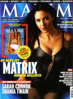 Аппетитная Моника Беллуччи  в журнале Maxim фото #1