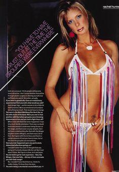 Голая грудь Рэйчел Хантер в эротических нарядах для журнала Loaded фото #4