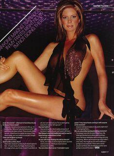 Голая грудь Рэйчел Хантер в эротических нарядах для журнала Loaded фото #5