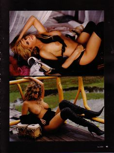 Красивая Рэйчел Хантер снялась голой в журнале Playboy фото #11