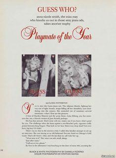 Анна Николь Смит в голом виде для Плейбоя фото #2