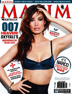 Секси Беренис Марло  в журнале Maxim фото #1