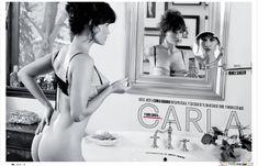 Карла Гуджино без лифчика в журнале Esquire фото #1