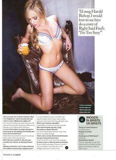 Горячая Имоджен Бэйли в сексуальном белье для журнала Maxim фото #4