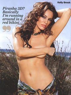 Раздетая Келли Брук в журнале FHM фото #2