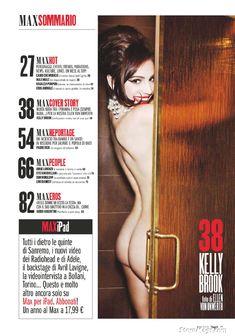 Келли Брук снялась обнаженной в журнале Max фото #2