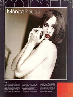 Возбуждающая Моника Беллуччи  в журнале Playboy фото #2
