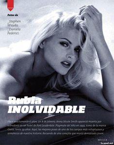 Снимки с голой Анной Николь Смит  в журнале Playboy фото #2