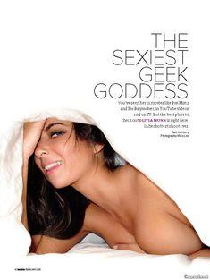 Эротичная Оливия Манн  в журнале Maxim фото #1