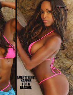 Горячая Аланна Форте в эротическом бикини для журнала Stack Models фото #4