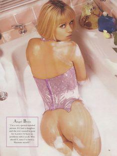 Сексуальная Энджел Борис обнажилась для журнала Playboys Lingerie фото #2