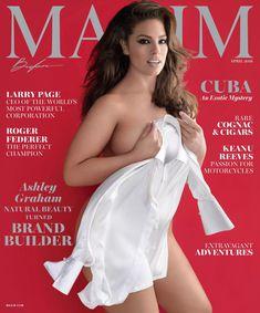 Пышногрудая Эшли Грэм в эротической фотосессии для журнала Maxim фото #1