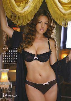 Келли Брук в нижнем белье для календаря фото #4