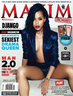 Секси Керри Вашингтон  в журнале Maxim фото #1