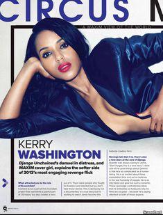 Секси Керри Вашингтон  в журнале Maxim фото #2