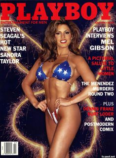 Абсолютно голая Сандра Тейлор в журнале Playboy фото #1