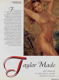 Абсолютно голая Сандра Тейлор в журнале Playboy фото #3