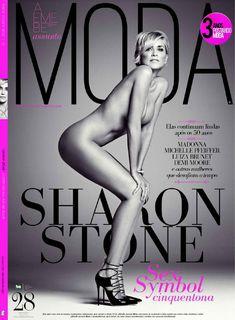 Шэрон Стоун разделась в журнале Aemebe Assunto Moda фото #1