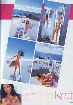 Санни Леоне показала свою дырочку в журнале Hustler Girls фото #2