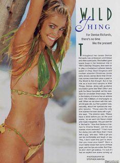 Обнаженная Дениз Ричардс  в журнале Playboy фото #2