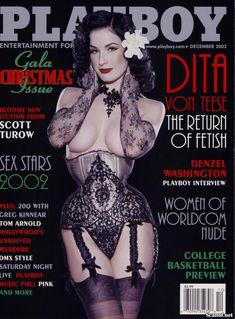 Полностью голая Дита Фон Тиз  в журнале Playboy фото #1