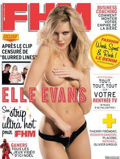 Голая грудь Элль Эванс в журнале FHM фото #1