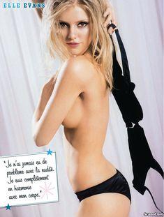 Голая грудь Элль Эванс в журнале FHM фото #4