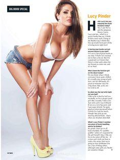 Пышный голый бюст Люси Пиндер  в журнале Nuts фото #3
