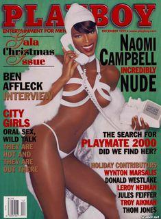 Наоми Кэмпбелл снялась голой  в журнале Playboy фото #1