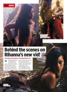 Раздетая Рианна в журнале Nuts фото #1