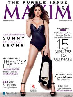 Секси Санни Леоне  в журнале Maxim фото #1