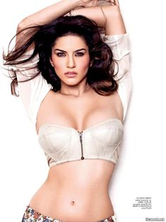 Секси Санни Леоне  в журнале Maxim фото #4