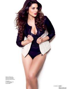 Секси Санни Леоне  в журнале Maxim фото #6