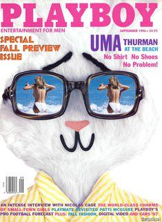 Обнаженная Ума Турман  в журнале Playboy фото #1