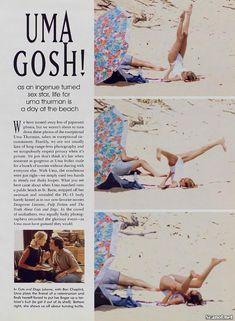Обнаженная Ума Турман  в журнале Playboy фото #2