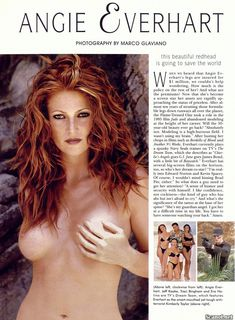 Обнаженная Энджи Эверхарт  в журнале Playboy фото #2