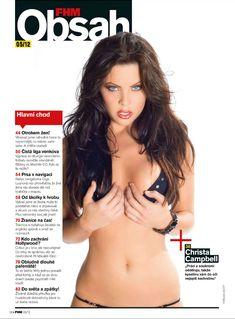 Эротичная Криста Кэмпбелл  в журнале FHM фото #2