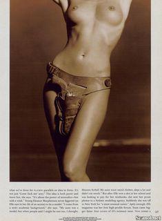 Сексуальная Эль Макферсон показала голую грудь в журнале Playboy фото #5