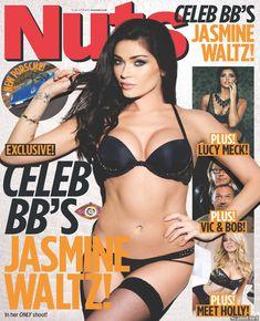 Горячая Джасмин Уолтц в сексуальном белье в журнале Nuts фото #1