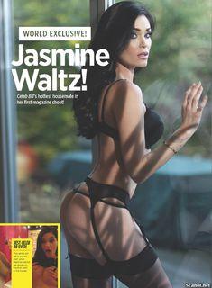 Горячая Джасмин Уолтц в сексуальном белье в журнале Nuts фото #2