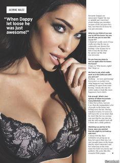 Горячая Джасмин Уолтц в сексуальном белье в журнале Nuts фото #8