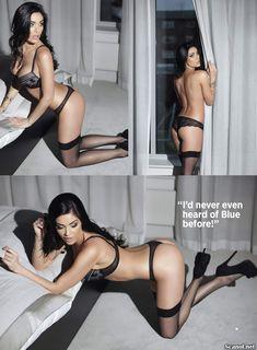 Горячая Джасмин Уолтц в сексуальном белье в журнале Nuts фото #10