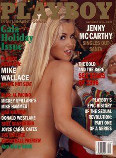 Обнаженная Дженни Маккарти с Дедом Морозом  в журнале Playboy фото #1