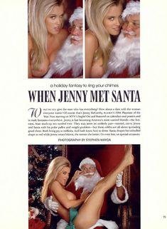Обнаженная Дженни Маккарти с Дедом Морозом  в журнале Playboy фото #3