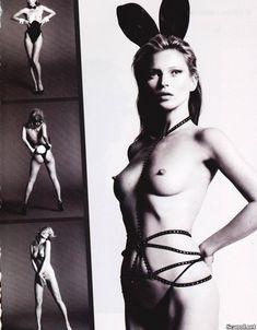 Голая грудь Кейт Мосс в журнале Playboy фото #5