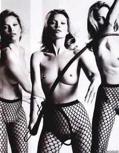 Голая грудь Кейт Мосс в журнале Playboy фото #9