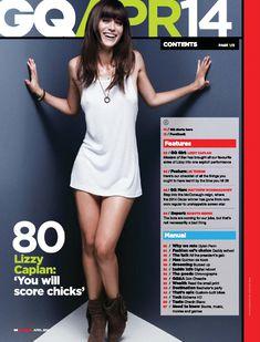Сексуальная Лиззи Каплан в игривом образе для журнала GQ фото #1