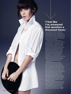 Сексуальная Лиззи Каплан в игривом образе для журнала GQ фото #3